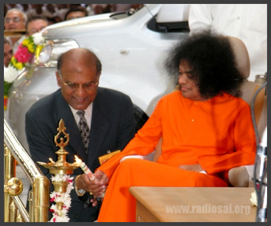 Narendranath Reddy with Swami